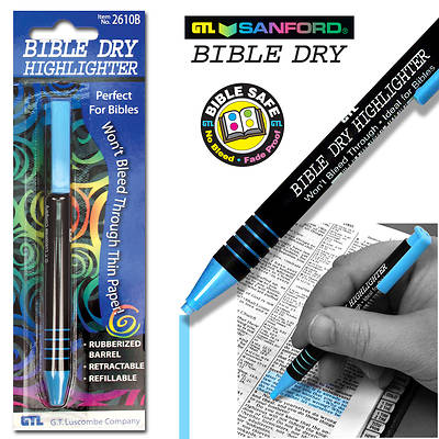Bible Dry Highlighter - Blue