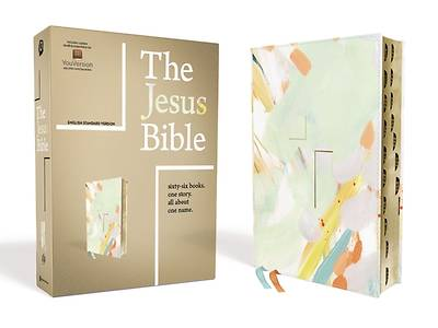 Picture of The Jesus Bible, ESV Edition, Leathersoft, Multi-Color/Teal, Indexed