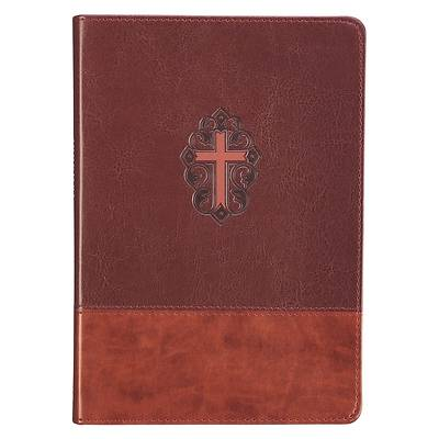 Journal Classic Zippered Luxleather Cross - John 3