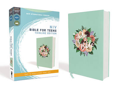 Picture of Niv, Bible for Teens, Thinline Edition, Cloth Over Board, Floral, Red Letter Edition, Comfort Print