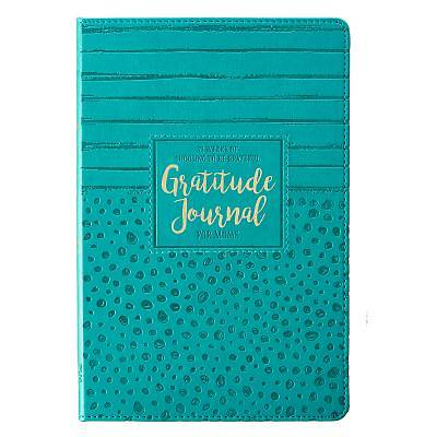 Picture of Prompted Gratitude Lux-Leatherjournal for Moms