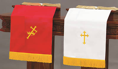 Abbott Hall SP Reversible Red/White Pulpit Scarf