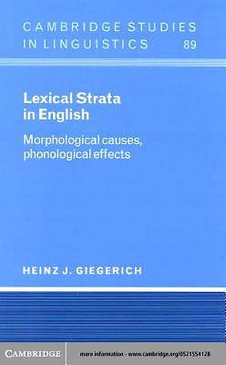 Lexical Strata in English [Adobe Ebook]