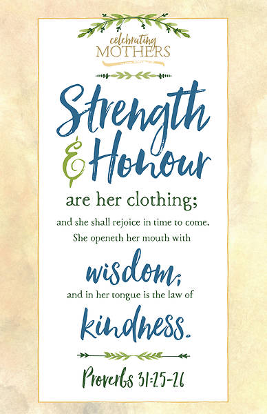 Strength and Honour Mothers Day Bulletin - Pack of 100