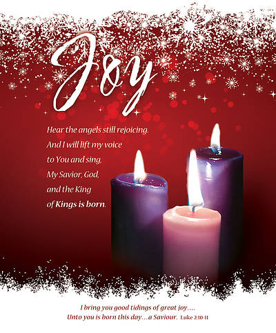 Advent Week 3 Luke 2:10-11 Bulletin Legal (Package of 100)