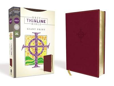 Picture of NRSV Thinline Bible, Giant Print, Leathersoft, Burgundy, Comfort Print