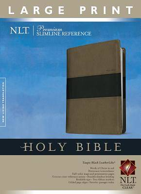 Picture of Premium Slimline Reference Bible NLT, Large Print Tutone