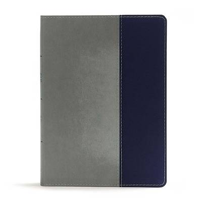 Picture of CSB Apologetics Study Bible for Students, Gray/Navy Leathertouch