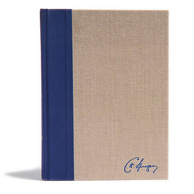 Picture of KJV Spurgeon Study Bible, Navy/Tan Cloth-Over-Board