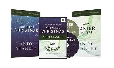 Picture of Who Needs Christmas/Why Easter Matters Study Guides with DVD