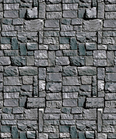 Group VBS 2013 Kingdom Rock Stone Wall Plastic Backdrop (4 x 30)
