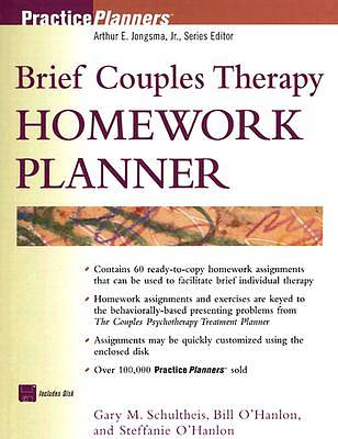 Brief Couples Therapy Homework Planner with Disk