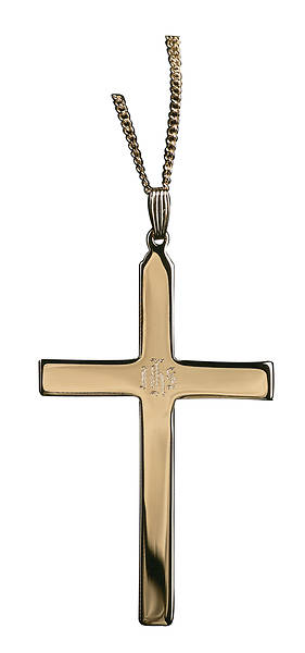 IHS Engraved Cross Necklace