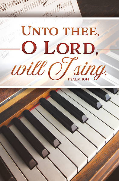 Picture of Unto Thee O Lord Will I Sing General Regular Size Bulletin