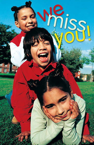 """We Miss You"" Postcard (Package of 25)"