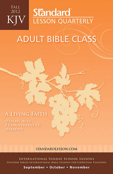 Standard Lesson Quarterly Adult KJV Student Fall 2012