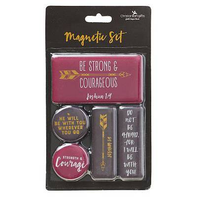 Picture of Magnet Set Be Strong & Courageous