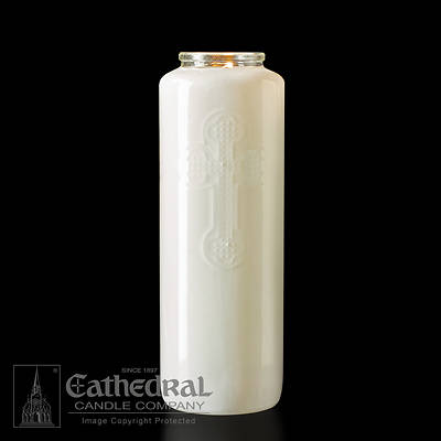 Cathedral 6-Day Glass Offering Candle - Opal