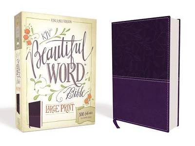 KJV, Beautiful Word Bible, Large Print, Imitation Leather, Purple, Red Letter Edition