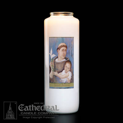Picture of St. Anthony 6-Day Glass Prayer Candle