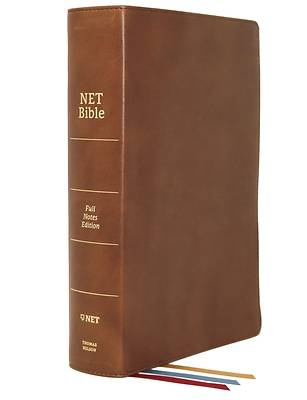 Net Bible, Full-Notes Edition, Genuine Leather, Brown, Comfort Print