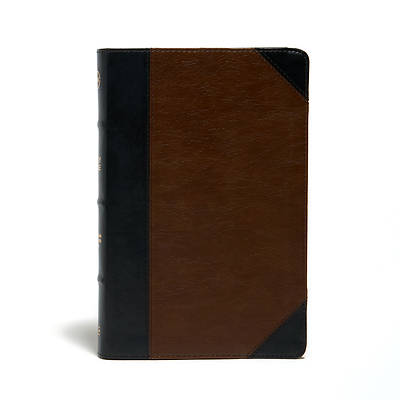 Picture of CSB Ultrathin Reference Bible, Black/Tan Leathertouch, Deluxe Edition