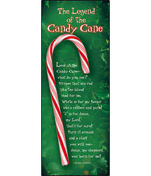 Legend of the Candy Cane Bookmark (Package of 25)