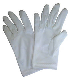 Children's Nylon Gloves - White, Small