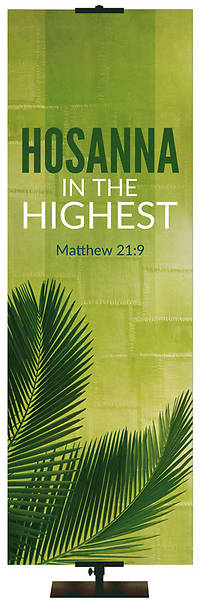 Picture of Easter Adorations Hosanna 2' x 6' Fabric Banner