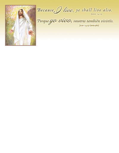 Picture of Because I Live Easter Letterhead SPANISH