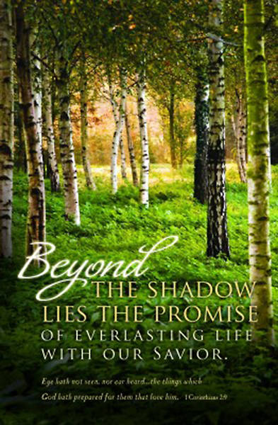 Beyond The Shadow Funeral Regular Bulletin - Pack of 100