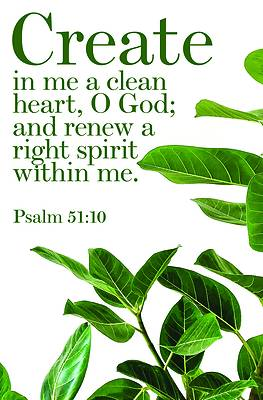 Picture of A Clean Heart Bulletin (Pkg 100) General Worship