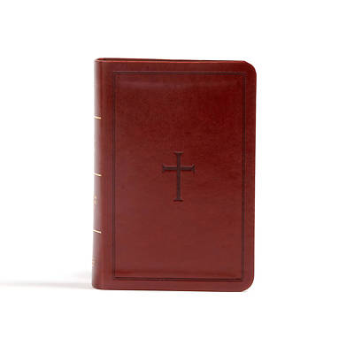Picture of CSB Large Print Compact Reference Bible, Brown Leathertouch