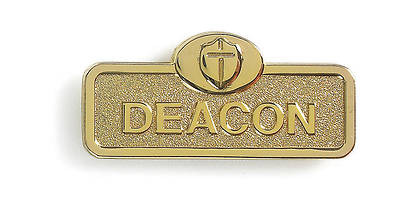 Picture of Brass Deacon Badge with Cross