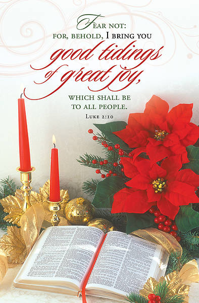 Good Tidings of Great Joy Christmas Regular Size Bulletin