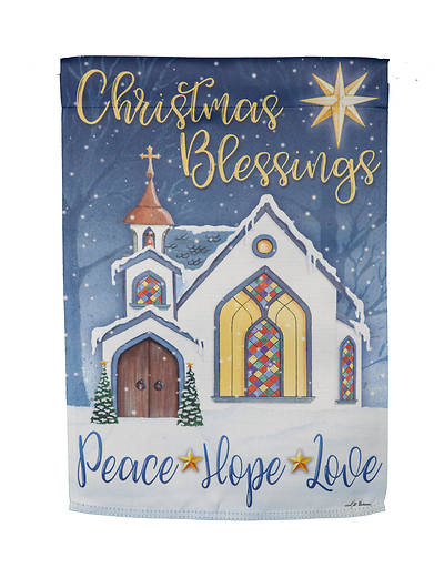 Christmas Blessings Garden Suede Flag