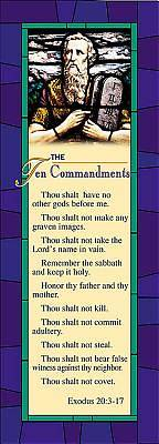 Ten Commandments Bookmark (Package of 25)