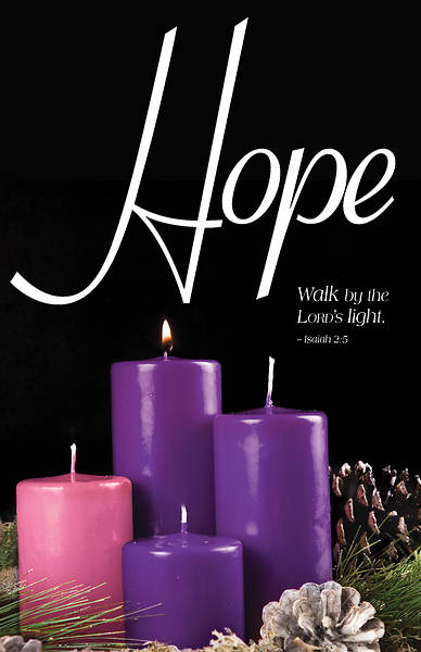 Picture of Hope Advent Candle Sunday 1 Bulletin (Pkg of 50)