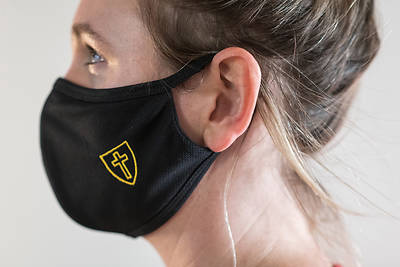 Picture of Reusable Cloth Face Mask with Cross and Shield Logo