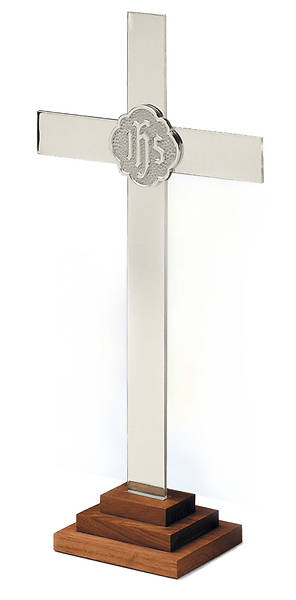 "Picture of 24"" SILVERPLATE CHAPEL LINE ALTAR CROSS"