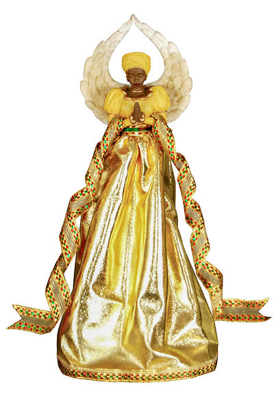 Picture of Serenity Angel Gold Tree Topper
