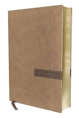 Picture of Nbla Santa Biblia, Una Columna Con Referencias, Letra Grande, Leathersoft, Beige, Edición Letra Roja