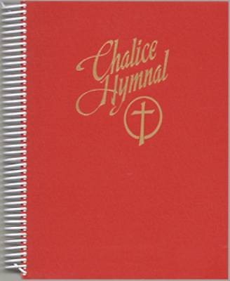 Chalice Hymnal Large Print Spiral Bound Hymnal Red