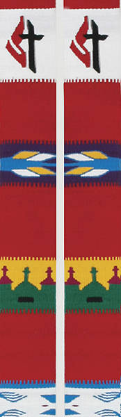United Methodist Red Guatemalan Stole