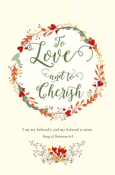 Picture of To Love and to Cherish Wedding Regular Size Bulletin