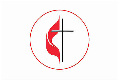 United Methodist Cross & Flame Postcard (Pkg of 25)