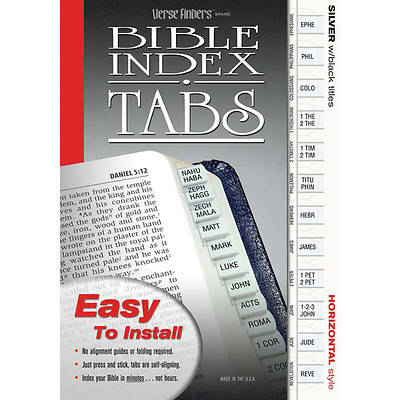 Horizontal Silver Verse Finders Bible Tabs