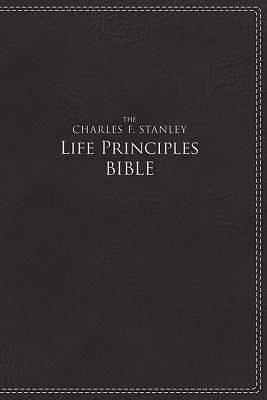 NIV, the Charles F. Stanley Life Principles Bible, Imitation Leather, Black, Indexed, Red Letter Edition
