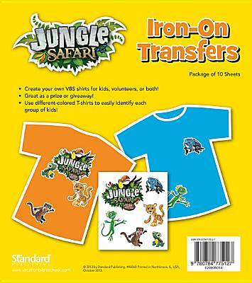 Standard VBS14 Jungle Safari Iron-On Transfers (10)