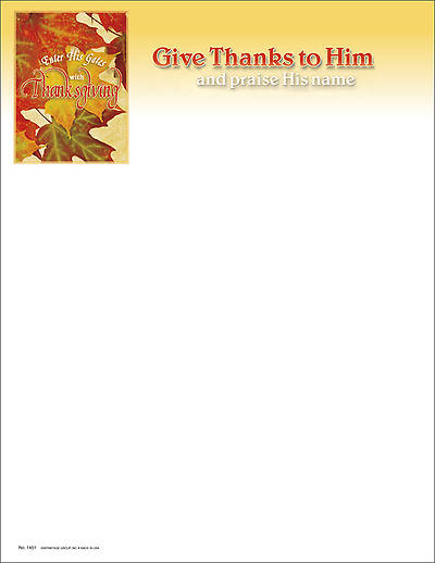 Thanksgiving and Praise Letterhead (Package of 100)